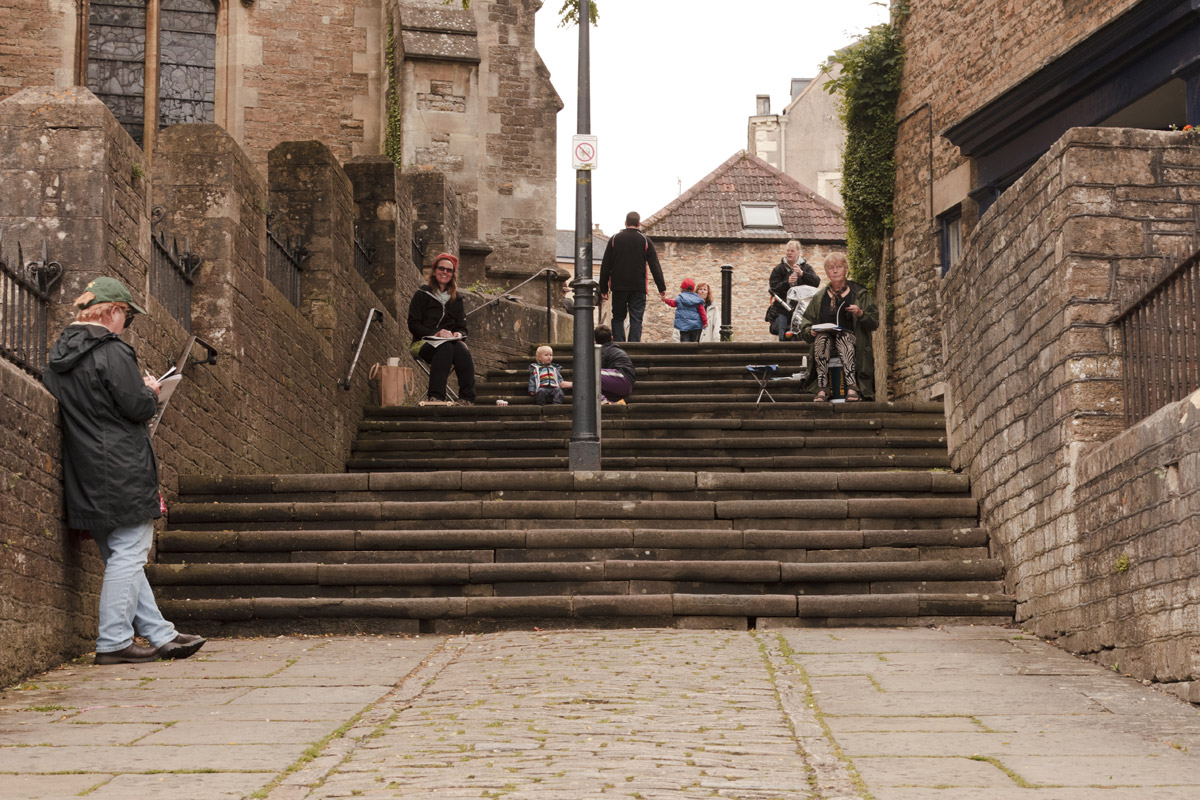 Frome Sketchers – Church Steps