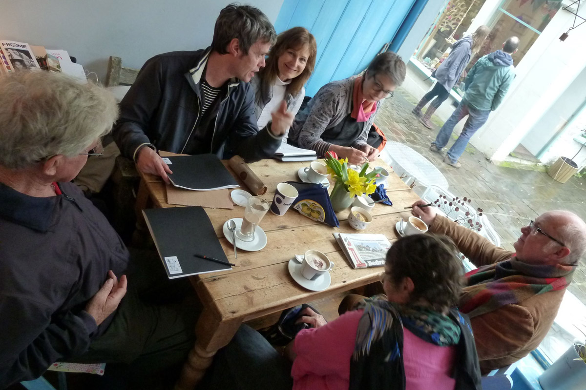 Frome Sketchers At Paccamora Cafe