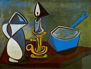 jug-candle-and-enamel-pan-1945